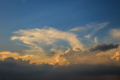 The evening sky. And clouds Stock Images