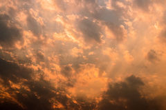 Evening sky and clouds. The evening sky and clouds royalty free stock photos