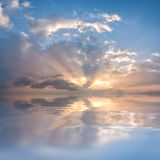 Evening sky with clouds Royalty Free Stock Photo