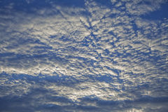 Evening sky with clouds Royalty Free Stock Photos