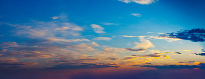 Evening sky with clouds Royalty Free Stock Image