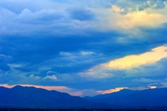 Evening sky. Cloudscape evening sky twilight Royalty Free Stock Images