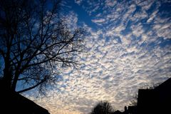 Evening Sky. Cloudy Evening Sky Stock Image