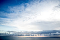 Evening Sky. A cloudy evening Sky over the ocean royalty free stock photo