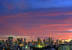 The evening sky. Is the colorful in the city Royalty Free Stock Photography