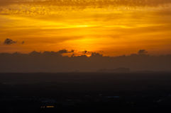 Evening sky. Hat Yai evening sky Royalty Free Stock Photo