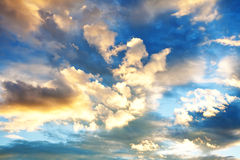 Evening sky. High resolution photo of dramatic evening sky Stock Images