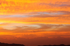 Evening sky magical landscape Royalty Free Stock Photography