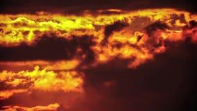 Evening sky. stock footage