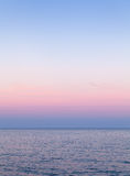 Evening sky natural colorful gradient over the sea Stock Image