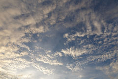 Evening sky. With nimbus cloud at sunset and twilight time Royalty Free Stock Image