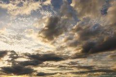 Evening sky. With nimbus cloud at sunset and twilight time Stock Photo