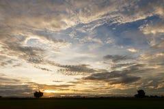 Evening sky. Evening sky with nimbus cloud at sunset and twilight time Royalty Free Stock Photo