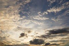 Evening sky. Evening sky with nimbus cloud at sunset and twilight time Stock Images