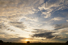 Evening sky. With nimbus cloud at sunset and twilight time Stock Image