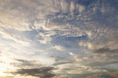 Evening sky. Evening sky with nimbus cloud at sunset and twilight time Stock Photos