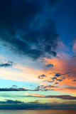 Evening Sky Over Lake Titicaca in Bolivia Stock Photography