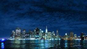 Evening Sky over Manhattan. Time Lapse. USA. New York City. The sunset over Manhattan. Time lapse stock footage