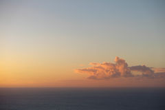 Evening sky over ocean , sunset sky with cloud Stock Photo