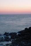 Evening sky over sea after sunset in Croatia Stock Photo