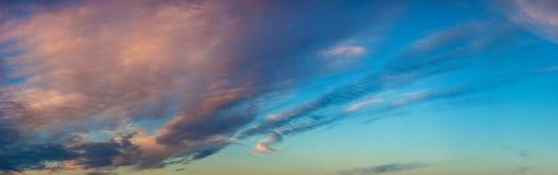 Evening sky panorama Stock Image