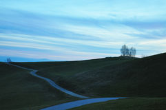 Evening sky. A peaceful, late autumn landscape was taken in European country Slovenia Stock Images
