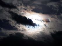 Evening Sky. The pretty colours in the eery looking evening sky Royalty Free Stock Images