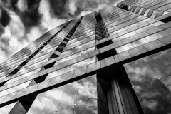 Evening sky reflecting in modern glass architecture at 250 West Stock Photography
