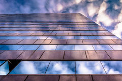 Evening sky reflecting in modern glass architecture at 250 West Royalty Free Stock Photo