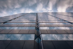 Evening sky reflecting in modern glass architecture at 250 West Royalty Free Stock Image