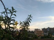 Evening sky. Shot in the evening sky of darjeeling royalty free stock photography