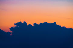Evening sky sunset clouds. View Royalty Free Stock Photography