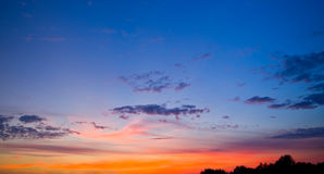 Evening sky. After sunset. Summer time Royalty Free Stock Photo