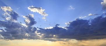 Evening sky with thunderclouds Royalty Free Stock Photography