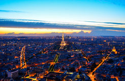 Evening skyline of Paris � France Royalty Free Stock Photo