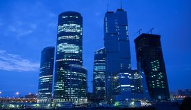 Evening skyscrapers Royalty Free Stock Images