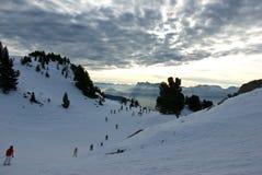 Evening on the slopes. Chamrousse, France Royalty Free Stock Photos