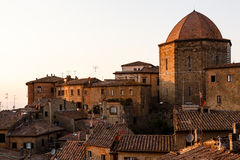 Evening in the Small Town of Volterra Stock Photography