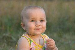 Evening smile. Royalty Free Stock Images