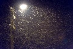 Evening snowstorm as background Stock Photography