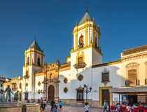 Evening at the Socorro place in Ronda - Spain Stock Image