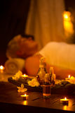 Evening spa treatment Stock Images