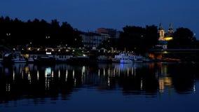 Evening spacer Vistula rzeką, Krakow, Polska zbiory