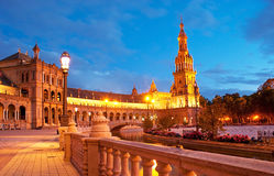 The evening Spain Square Stock Images