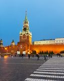 Evening, Spasskaya Tower of Kremlin, Moscow, Russia Royalty Free Stock Photography