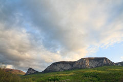 Evening spring mountains landscape (Crimea) Stock Photography