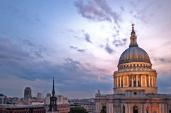 Evening at St Paul's Stock Photos