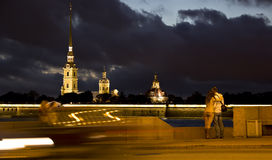 Evening St. Petersburg ,Russia Stock Photos