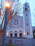 Evening at St. Vincent De Paul Church, Petaluma California Royalty Free Stock Image