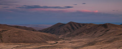 Evening in the steppe Stock Image